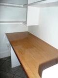 builtin desk and shelves