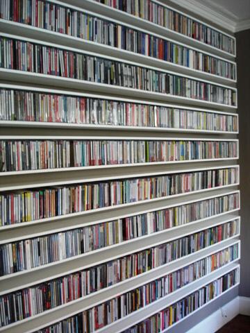 custom house CD and DVD shelves