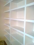 Painted home shelves
